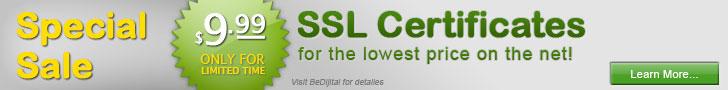SSL Sertifikas� 9 Dolar